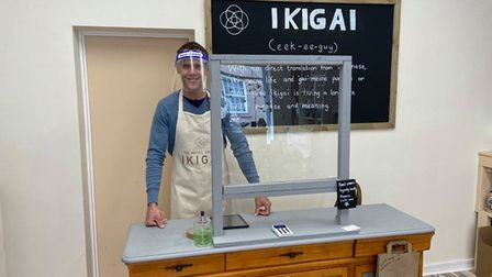Martin Cooper,owner of Ikigai-Refill shop, in St Ives, sells vegan-friendly products.
