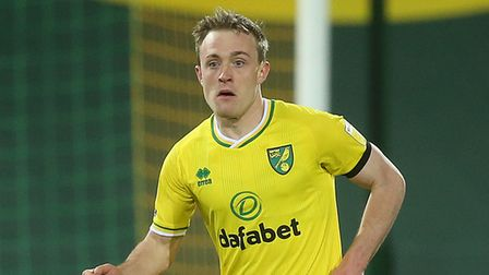 Oliver Skipp of Norwich in action during the Sky Bet Championship match at Carrow Road, NorwichPic