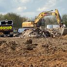 Work has started on a new 560-home estate on the edge of Felixstowe