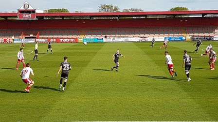 Action from an enthralling game between Stevenage and Crawley Town in League Two