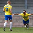 Goal celebrations for Billy Waters of Torquay United during the National League match between Torqua
