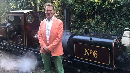 Michael Portillo at Wells & Walsingham Light Railway, Norfolk, in episode 10 of Great British Railway Journeys.