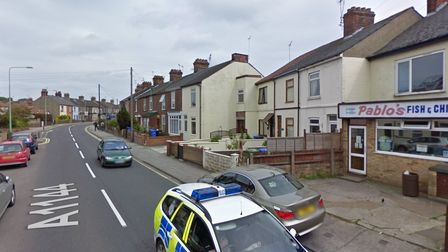 Police activity centred on St Peter's Streetin Lowestoft, which remains closed off this morning
