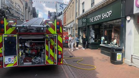 Firefighters were called to The Body Shop