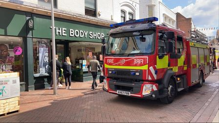 Fire crews were called to The Body Shop in Tavern Street