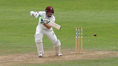 Steven Davies in batting action for Somerset