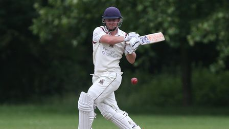Aaron West in batting action forBrentwood