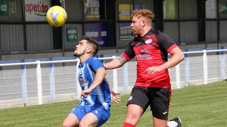 Clevedon Town's Jay Murray in action against Cribbs