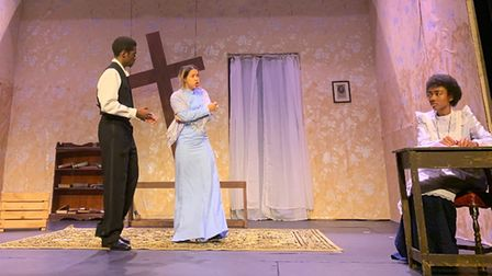 A performance of The Convert at the ADC Theatre in Cambridge.