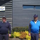 Andy Chapple and Ian Adams finished first in the Upton & Scott Trophy qualifying competition at Brean Golf Club