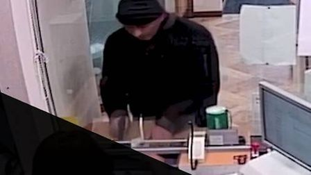 Steven Ifield during one of the bank raids.