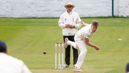 Matt Carpenter took three wickets with the new ball for Clevedon at Bath