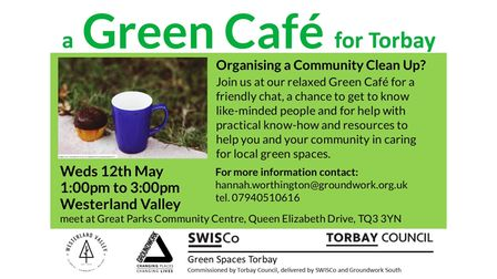 The Green Cafe event for Wednesday, May 12