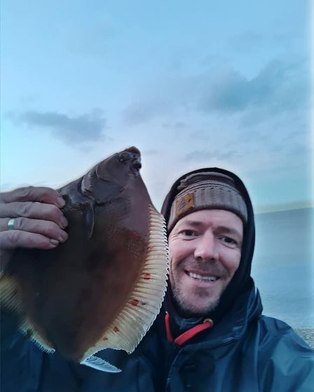 Tim Parsons with a Plaice
