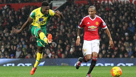 Norwich City midfielder Alex Tettey's improvised finish sealed a landmark Premier League win at Manchester United