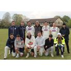 Portishead CC pose for the camera after Saturday's three wicket win at Old Bishopston CC