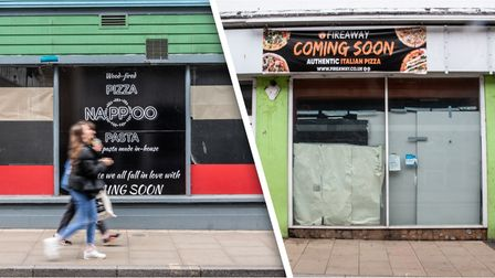 Two new pizza restaurants are preparing to open in Ipswich town centre.