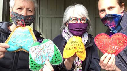 The craft protests calling for action on pollution in Ipswich
