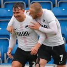Goal celebration by Torquay United player Billy Waters during the National League Match between Ches