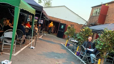 The Courtyard Bar with live music at Hitchin's Market Theatre.