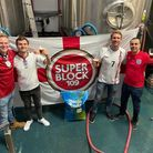 Rob Butler, Sam Ransom, Kevin Masters and Kunal Sapat have created Wembeerly IPA