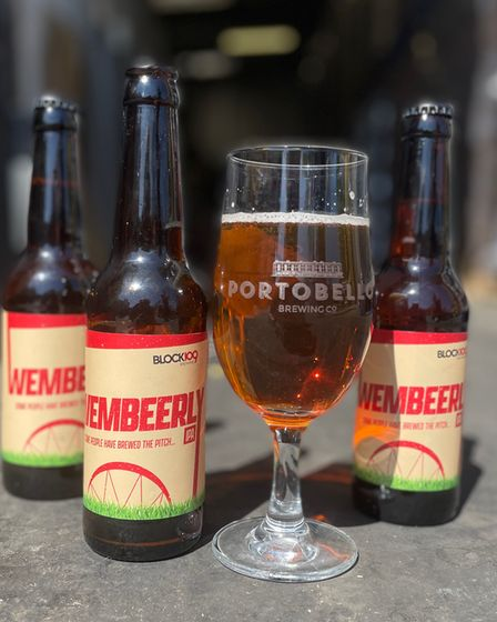 Wembeerly IPA, made from the same seeds as it used on the Wembley Stadium pitch