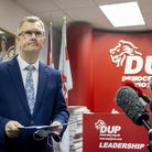 DUP MP for Lagan Valley Sir Jeffrey Donaldson, launches his campaign to become leader of the DUP at