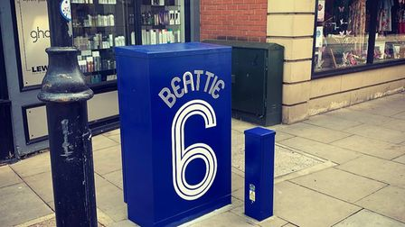 A Kevin Beattie-inspired box in Dogs Head Street