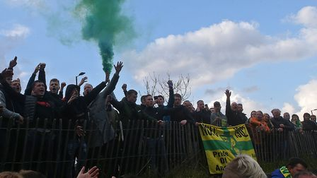 Norwich City fans savour the Canaries' Championship title win against Reading