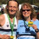 Terry Knightley and Kim Baxter took part in Doddington Place 10k