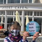 Sidmouth Fairtrade Town Steering Group member, Marian Gadian