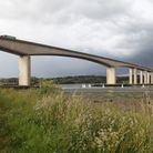 The new 40mph speed limit will be in place until 5pm today on the Orwell Bridge