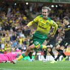 Todd Cantwell shows his delight after scoring for Norwich City in a famous 3-2 Premier League win over Manchester City