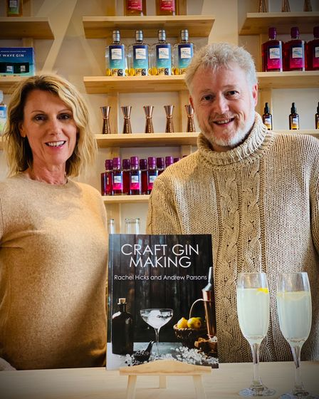 Rachel Hicks and Andrew Parsons, founders of Sky Wave Gin Distillery in Oxfordshire