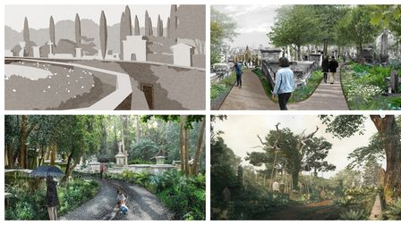Shortlisted designs for Highgate's West Cemetery