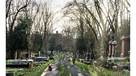 J&L Gibbons' artistic impression of Highgate's East Cemetery