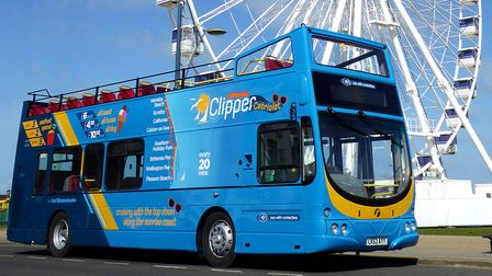 One of the three 'open toppers' that will take passengers between Great Yarmouth and Hemsby