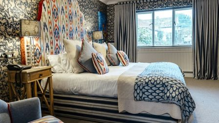 Boutique bedrooms at the Pheasant Hotel in North Yorkshire