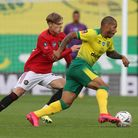 Highly rated Manchester United full back Brandon Williams in action against Norwich City in the FA Cup
