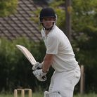 Ed Wharton batting for Reed Cricket Club