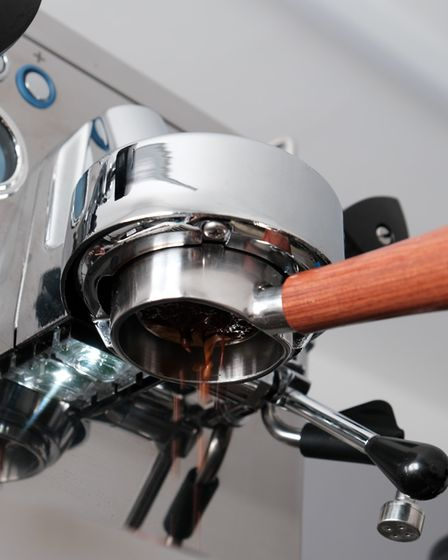 Coffee machine from Due Fratelli specialist coffee creators in Suffolk
