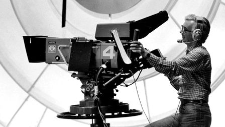 Jeremy Hoare using a Phillips LDK 5 camera, which was used on several series for The Muppet Show