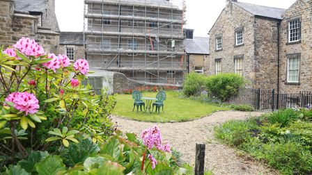 View across the garden at the Judges' Lodgings in Lancaster