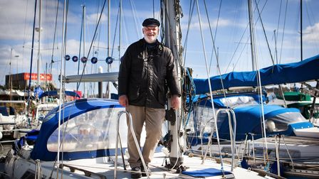 Olle aboard his boat the Renegade which will leave Fox's Marina on May 23