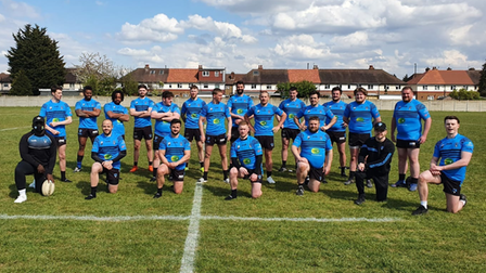 North Herts Crusaders rugby league team photo