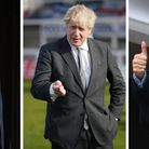 File photo dates of (from left) Labour leader Sir Keir Starmer, Prime Minister and Conservative lead