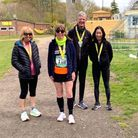 Sue Foot, Lucy O'Connor, Andrew Porter and Yuko Gordon of North Herts Road Runners
