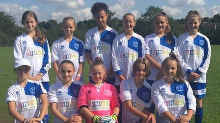Hitchin Belles U15 Whites team photo