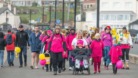 Charlotte Reid and her family take on Captain Tom's 100 challenge, walking 100 laps of Sidmouth Espl