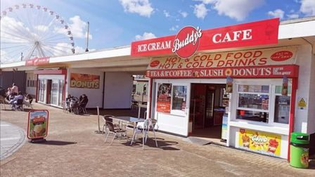 Buddy's cafe, on Great Yarmouth's seafront